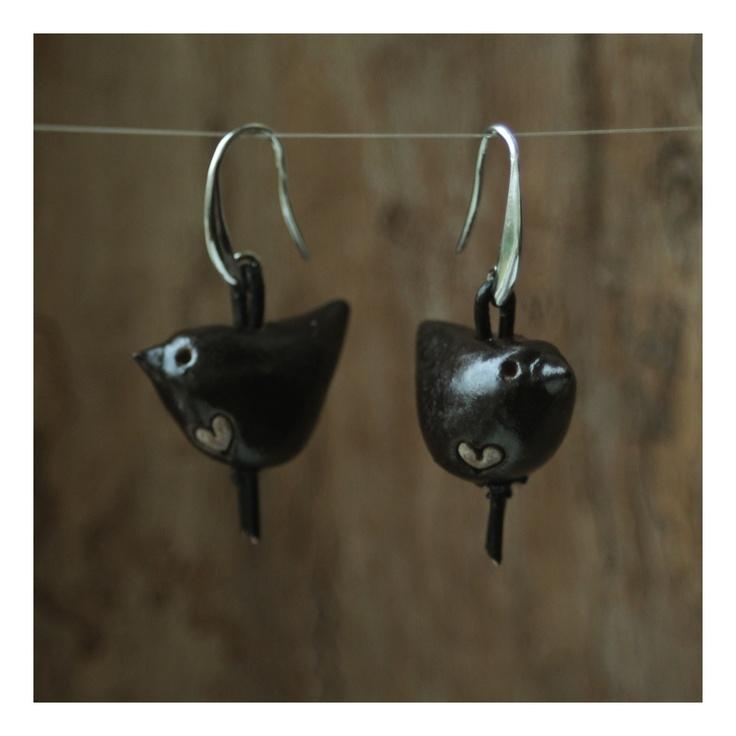 earrings. ceramic / kolczyki. ceramika /// http://karolina-g.blogspot.com/2012/12/mae-zakochance.html ///