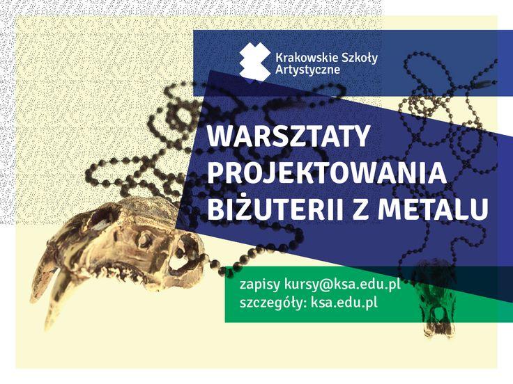 Warsztaty projektowania biżuterii w metalu | Jewelry workshop http://www.ksa.edu.pl/kursy-warsztaty-szkolenia-w-krakowskich-szkolach-artystycznych/tygodniowe-warsztaty-projektowania-bizuterii-w-metalu-weeklong-jewelry-workshop #SzkolaMody #FashionSchool