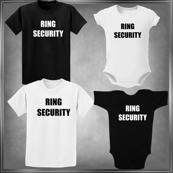 Fun Wedding Ring Security T-Shirt or One-Piece by HayasDesigns