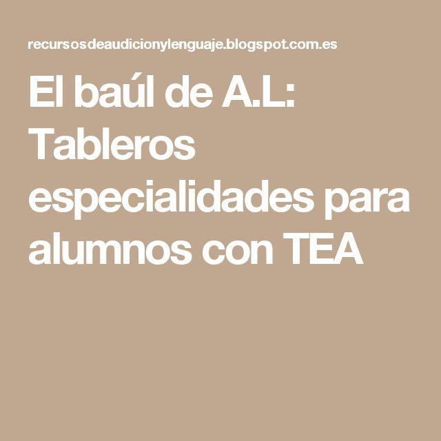 El baúl de A.L: Tableros especialidades para alumnos con TEA