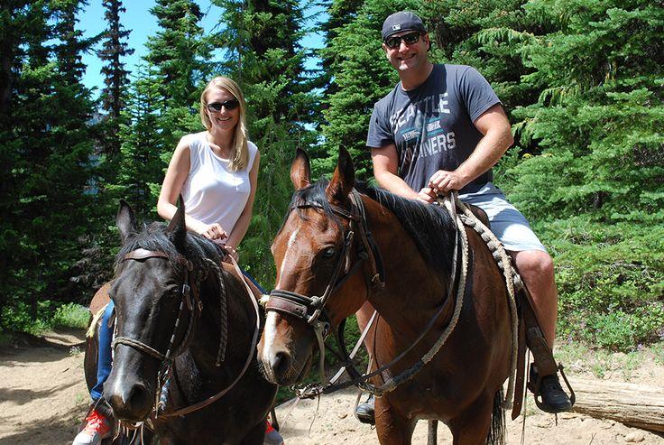 Horseback riding at Crystal Mountain Resort