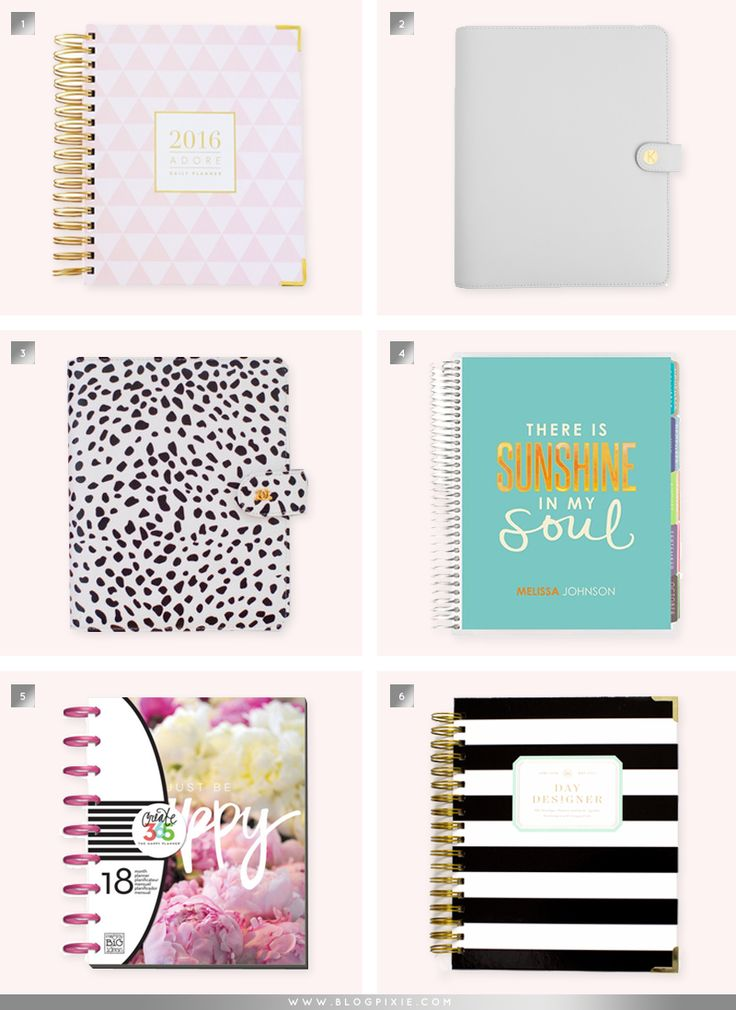 The Best Daily Planners Of 2016 | www.blogpixie.com
