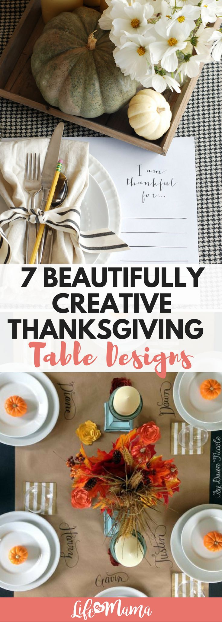 These Thanksgiving table designs are gorgeous! Dress up your table setting this year. #thanksgiving