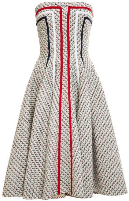 Thom Browne Paneled Tweed Jacquard Dress Light Grey on shopstyle.com