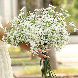 5pcs Atificial Baby's Breath Gypsophila Wedding Plastic Flowers White Home Décor