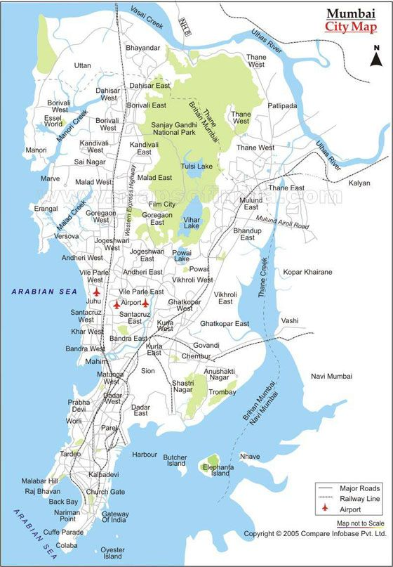Detailed Map Of Bombay 2 Mumbai Pinterest Map City Maps And
