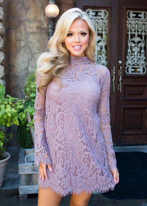 Dress, Short Dress,Mint Dress, lace Dress, Long Sleeve Dress, high Neck Dress…