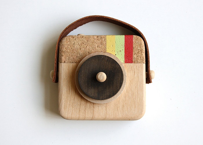 Anagram Wooden Camera Inspired by Instagram by Twig Creative contemporary baby toys