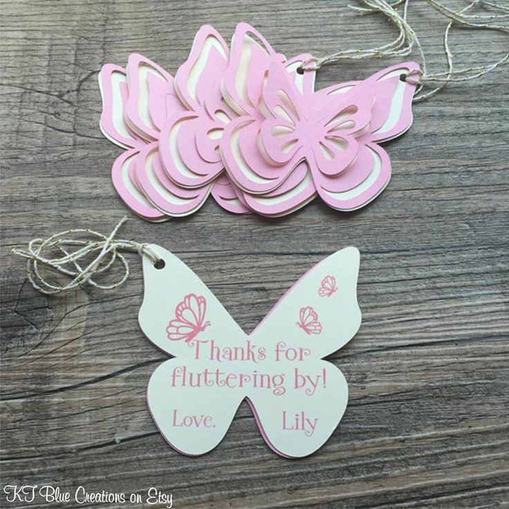 Butterfly Thank You Tags, Favor tags, Gift tags - Pink & Ivory - Personalized - Birthday, Garden Party, Baby Shower - set of 8 #babyshowerideas4u #birthdayparty  #babyshowerdecorations  #bridalshower  #bridalshowerideas #babyshowergames #bridalshowergame  #bridalshowerfavors  #bridalshowercakes  #babyshowerfavors  #babyshowercakes
