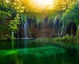 Wallpaper superb cu Parcul National Plitvice din Croatia in diferite dimensiuni : 1024x768, 1280x800, 1366x768, 1920x1200