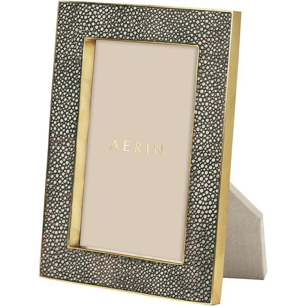 aerin chocolate shagreen frame 4x6 250 liked on polyvore featuring