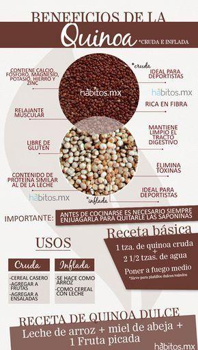 Beneficios de la Quinoa #vidasana #comerbien #alimentos #salud