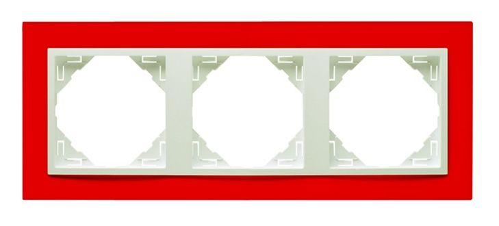 90930_TVG: 3 - rámček, červená/ľadová