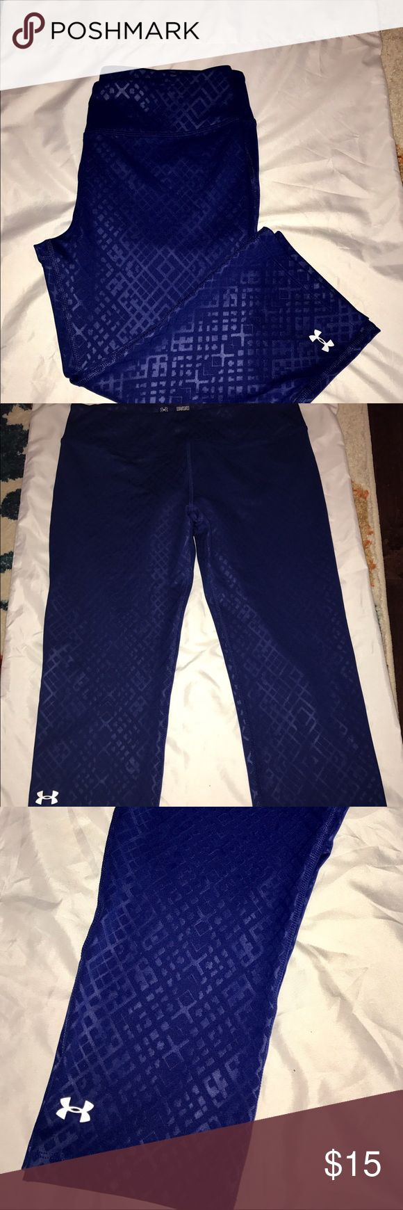 Womens Under Armour Training Capri Size M LIKE NEW Womens Under Armour Training Capri Size M LIKE NEW Blue Under Armour Pants Capris