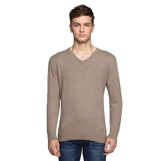 QingTeng Men Slim Fit Cashmere Sweater V Neck Wool Mens Pullovers Winter Knit Sweater Cachemire Pull Homme Marque Shirt M-3XL