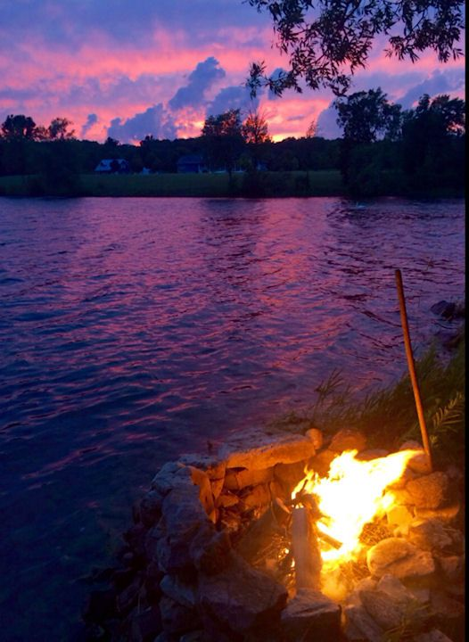 Campfire at the waterfront in Waupoos - Photo thanks to Liz