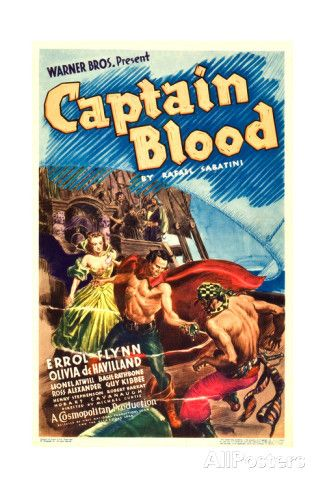 ALEX RAYMOND - art for CAPTAIN BLOOD half sheet movie poster - 1935