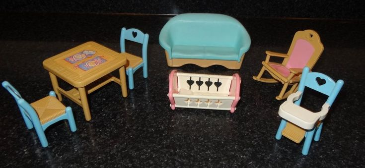 Fisher Price Dream Dollhouse Furniture Set Chairs Table Couch Cradle 7 Pc Lot JB | Toys & Hobbies, Preschool Toys & Pretend Play, Fisher-Price | eBay!