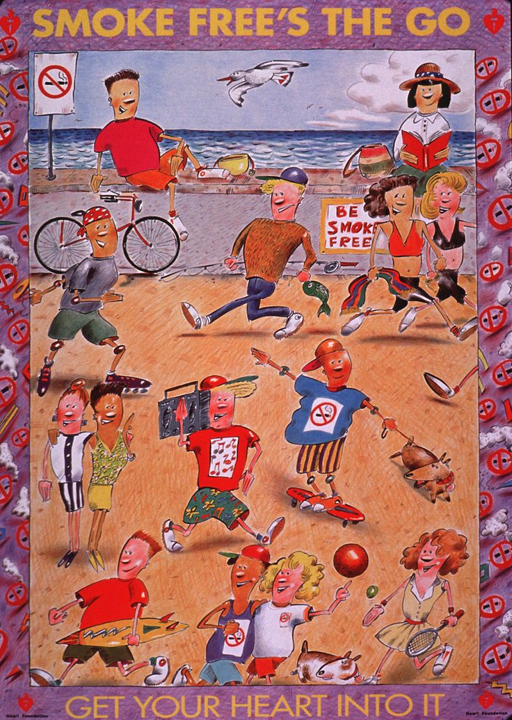 Smoke Free's The Go. Circa 1990. Reproduced with permission of the National Heart Foundation of Australia.