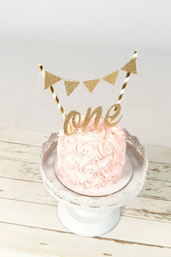 Een Cake-Topper eerste verjaardag taart topper een door SmashCaked