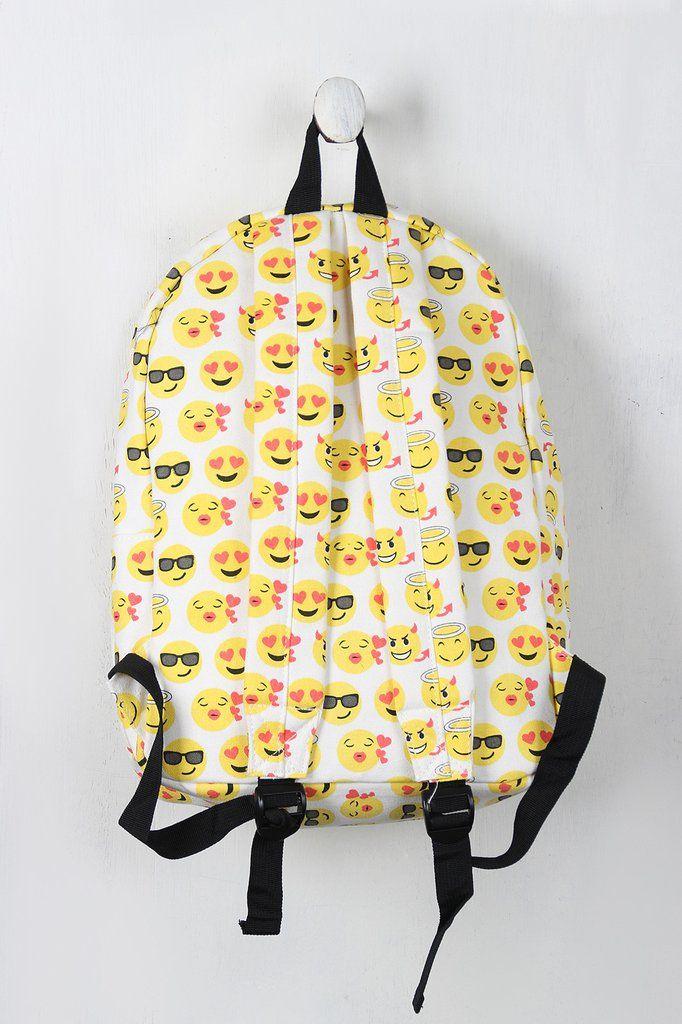 Canvas Emoji Backpack