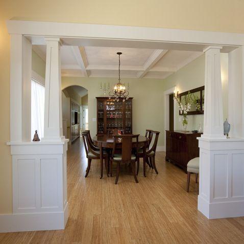 Columns Between Greatroom Kitchen Design Ideas Pictures Remodel And Decor