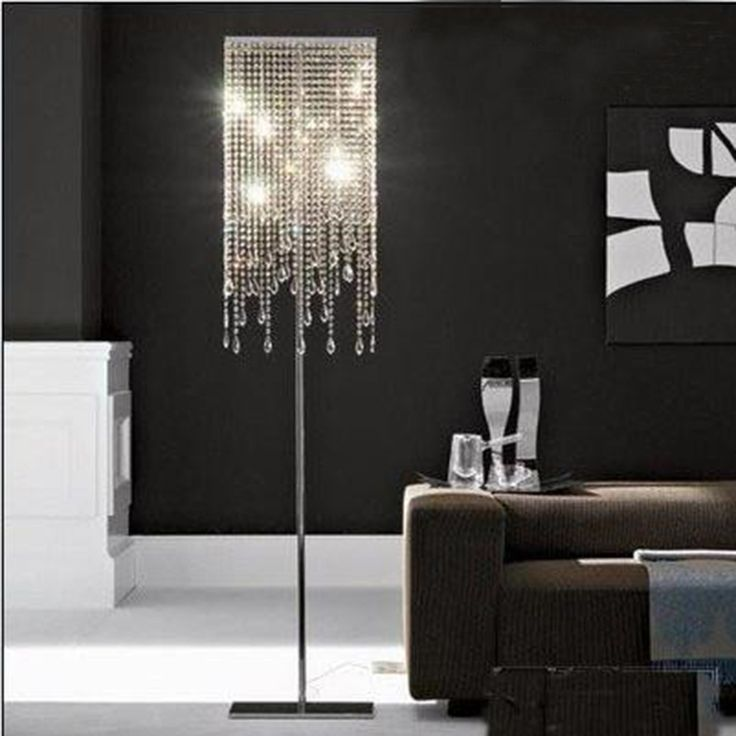 Great Crystal Chandelier Floor Lamps