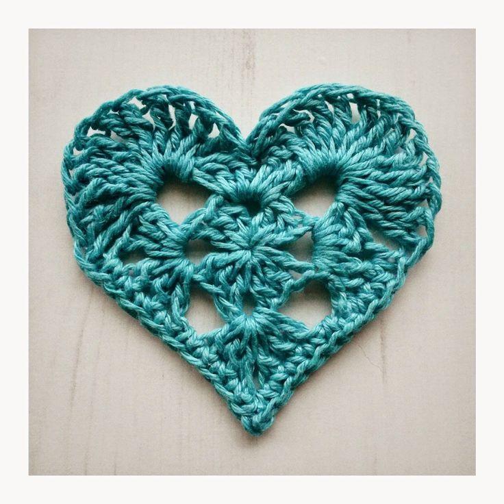 Crochet Tea Party :: Granny Heart with diagram