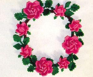 ~Waw: rosen-ketting van strijkkralen van Matome. Naver~