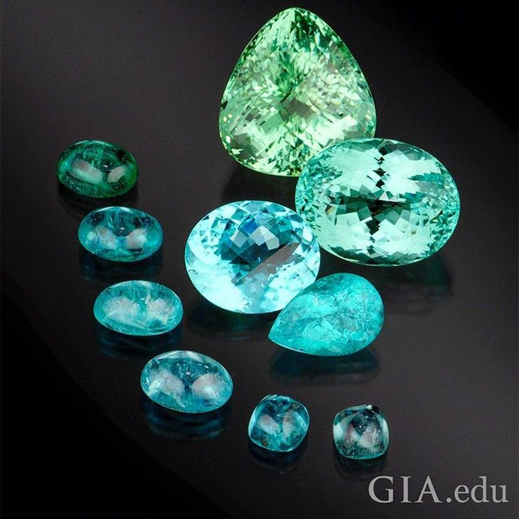 What brilliant and beautiful colors! From electric blues to olive greens, one of these cuprian #tourmalines is sure to capture your heart. Photo: Robert Weldon/GIA