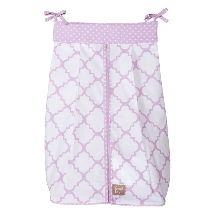 Organize your diapers in style with this feminine-print fabric diaper stacker…