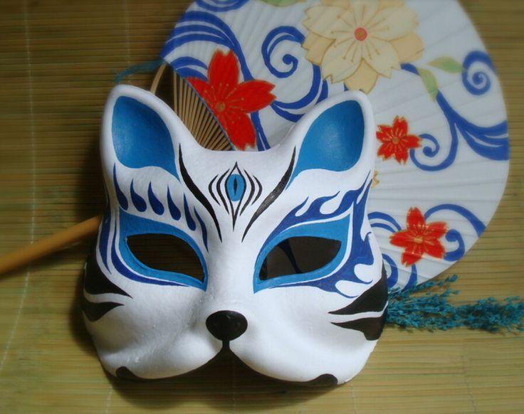 Ereignis Partei liefert! Hand bemalt Fuchs Maske endulge japanischen Maske Ober Half Face Halloween Maskerade Partei Cosplay Maske in    Namen: Hand- bemalten maskenmaterial: papierhalbstoffPaket beinhaltet:1 maske + Zubehör( 2 Seilen + aus Party-Masken auf AliExpress.com | Alibaba Group
