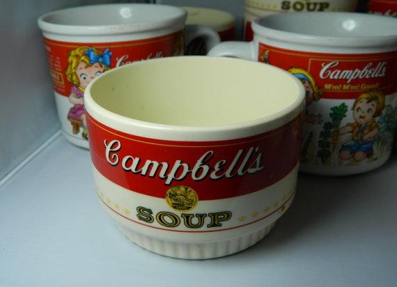 vintage camples soup cans