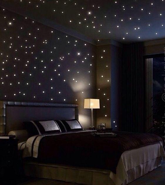 Starry bedroom walls