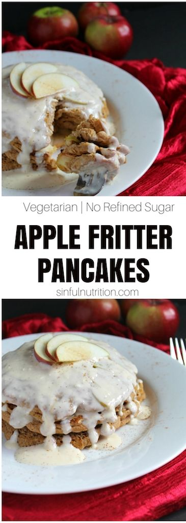 Fritter Apple Pancakes Recipe -- make with almond our coconut flour