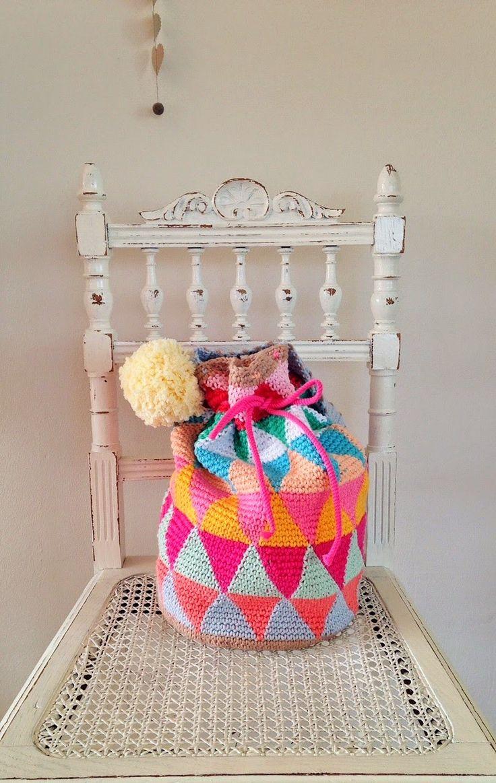 Crochet inspiration @ draad en praat - Happy bag