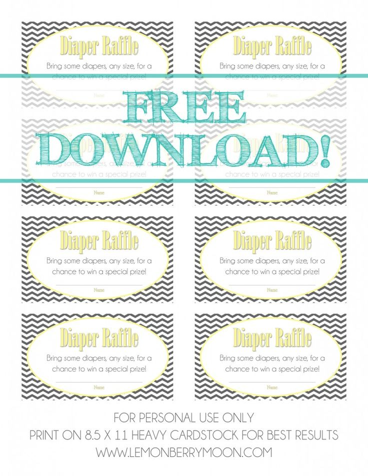 1000+ images about Baby on Pinterest Shower favors, Showers and - printable raffle ticket template free