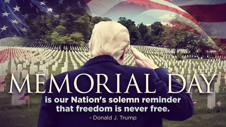 (1338) Twitter Vote Trump Pics‏ @VoteTrumpPics May 29  Land of the Free Because of the Brave  Remember our Fallen Heroes🙏  #MemorialDay 🇺🇸 #NeverForget Arlington National Cemetery