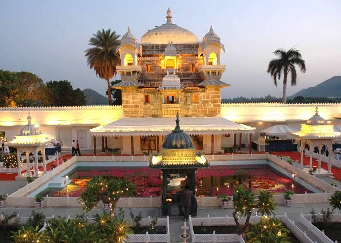 Jagmandir Island Palace, Udaipur   Often referred to as a 'swarg ki vatika' or 'garden of heaven' - it has dedicated heritage venues that challenge your creativity in pampering your guests.