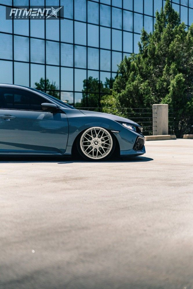 9 2017 Civic Honda Air Lift Performance Air Suspension Rotiform Rse Silver In 2020 Honda Civic Civic Civic Hatchback