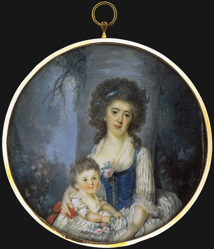 Mother and child, 1785, French school