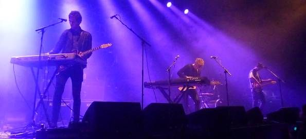 Irish band Kodaline filmed performing at Dublin's Old Tannery