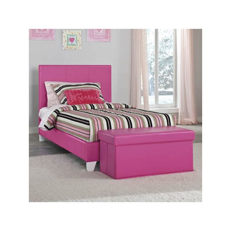 Give Your Bedroom A Lively And Inviting Look With The Vibrant Savannah Twin Pink Bed Faux Leather Fabric Covers This For Playful That You