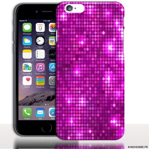Coque iPhone 6 Apple | Disco Violet | Dimension 4.7 pouces | Coque rigide. #Paillette #Disco #iPhone6 #Coque