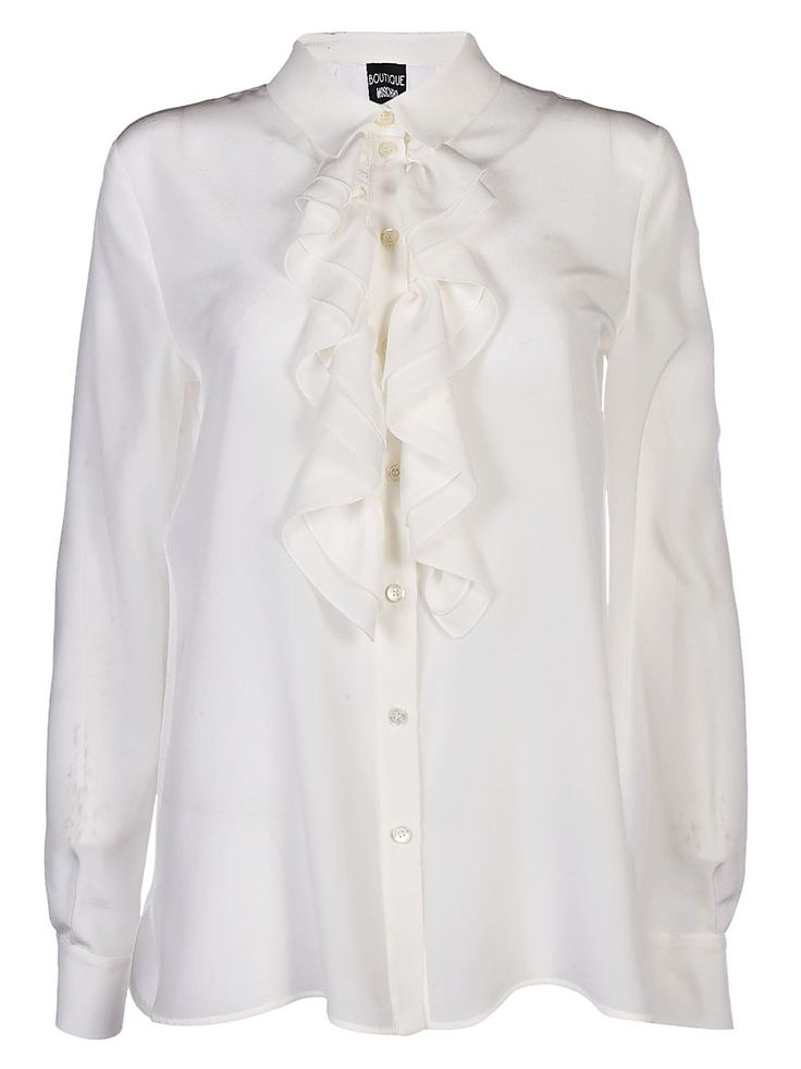 BOUTIQUE MOSCHINO RUFFLED DETAIL SHIRT. #boutiquemoschino #cloth #