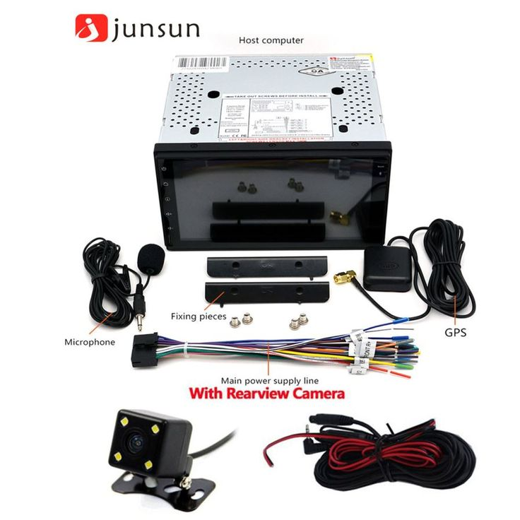 Junsun 2 DIN Car DVD + GPS Navigator + Rear View Camera - Black - Free Shipping - DealExtreme
