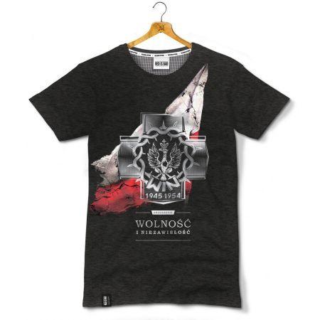 Koszulka patriotyczna Wolność i Niezawisłość - odzież patriotyczna, koszulki męskie Red is Bad