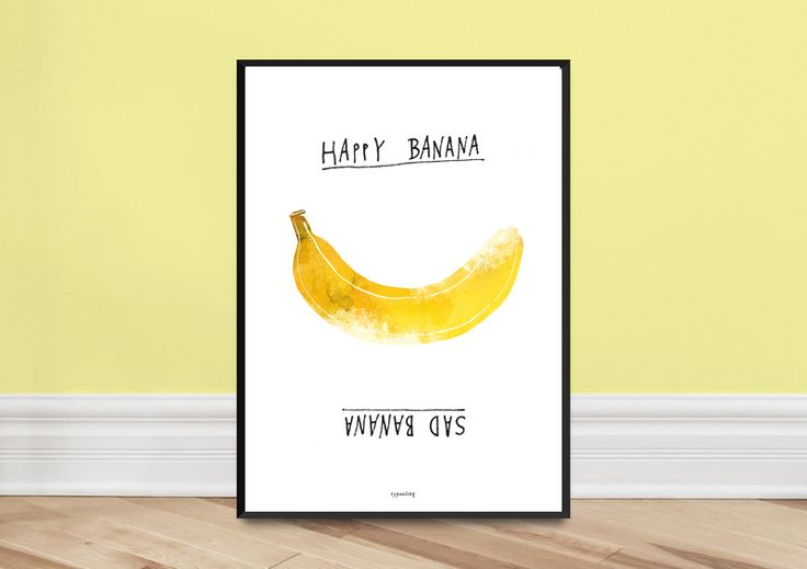 Poster / Stimmungsposter Banana from typealive by DaWanda.com