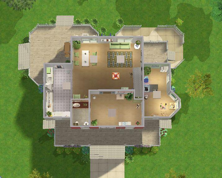 77 best bouwplan sims 2 images on pinterest | floor plans, house