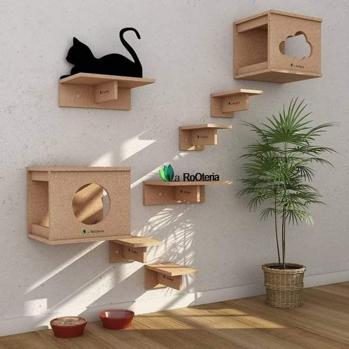 Pin By Krisztina Dudás On Decoração Cat Wall Furniture Cat House Diy Cat Wall Shelves